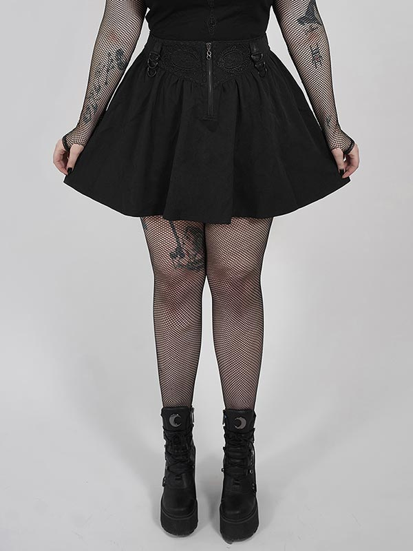 Plus-Size Gothic Thorn and Desire Skirt