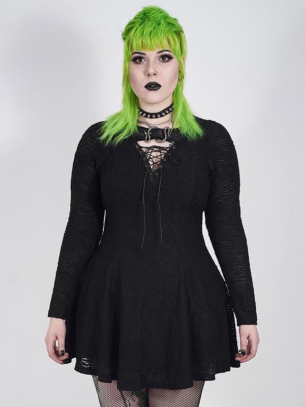 Plus-Size Punk Mystery Snake Buckle Dress