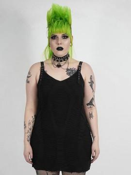 Plus-Size Goth Sexy Braces Dress