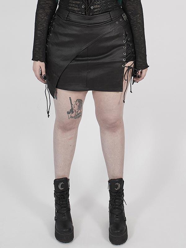 Plus-Size Steampunk Half Moon Skirt