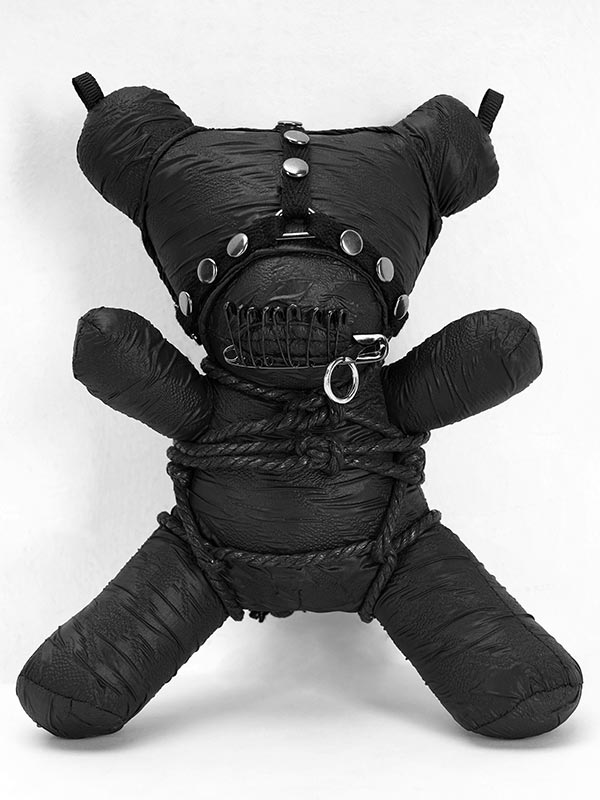 19.5CM Gothic Taboo Bear - Black