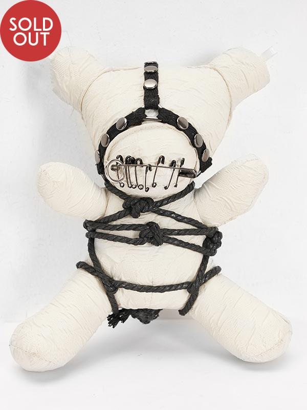 19.5CM Gothic Taboo Bear - White
