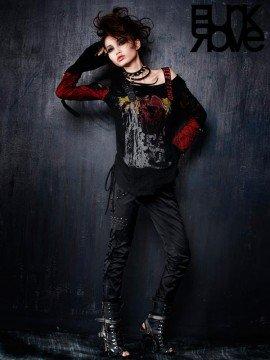 Punk Metal Rivet Leather Pant