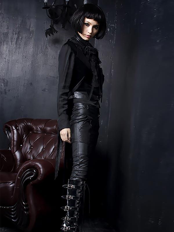 Gothic Cracked Leather Pant