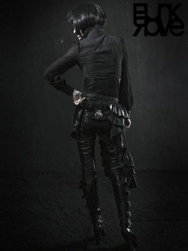 Gothic Stovepipe Leather Pants