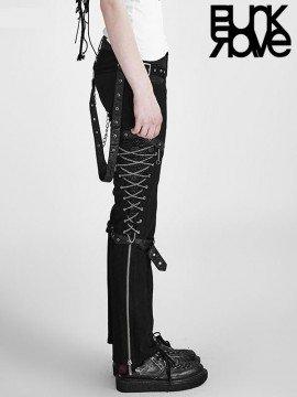 Punk Chain Link Black Pant