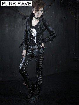 Punk Ladder Wrap & Metal Rivet Leather Pant