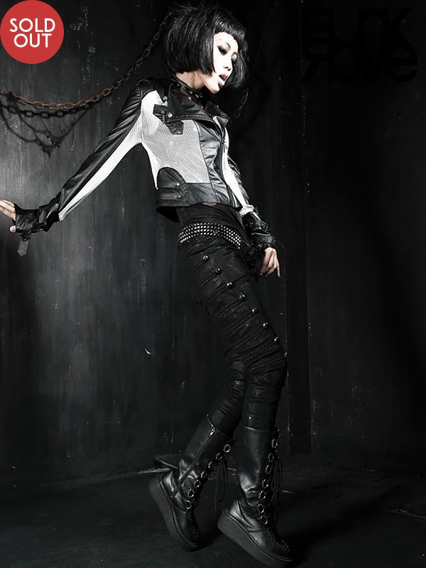 Punk Military Style Embossed Dragon Rivet Jeans