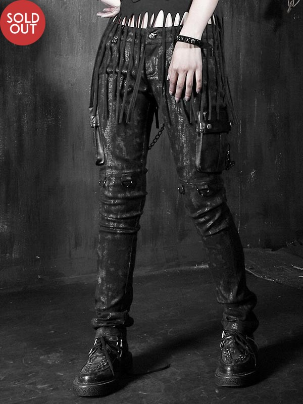 Punk Spell-Leather Military Style Pant