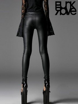 Gothic Stretch Lace Up Leggings
