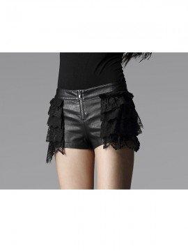 Punk Leather & Lace Shorts