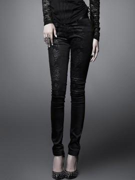 Gothic Printing Skinny Pant