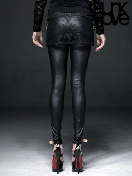 Gothic Embroidered Lace Leggings