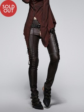 Steampunk Coffee Leather Trousers