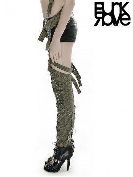 Punk Army Green Military Leggings