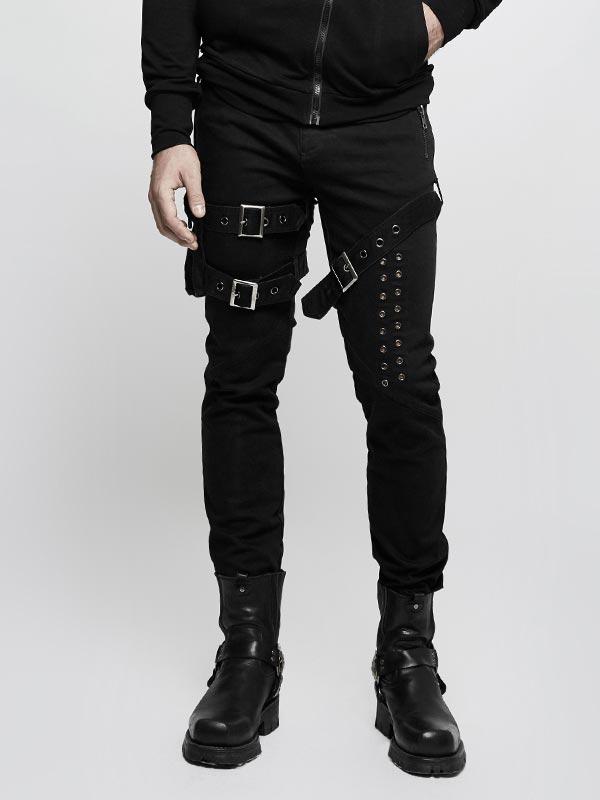 Mens Punk Jean with Detachable Side Pocket