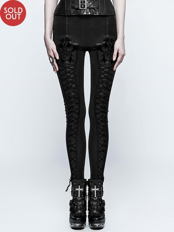 Gothic Tie Rope Winter Leggings