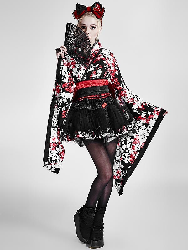 Sweet Lolita Japanese Three-Piece Kimono Dress