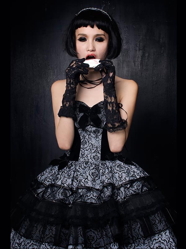 Gothic Court and Lolita Classic Strapless Dress