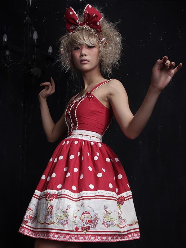 Lolita Graphical Print Court Dress