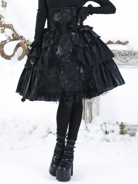 Gothic Lolita Princess and the Pea Skirt