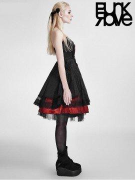 Lolita Black & Red Strapless Evening Dress