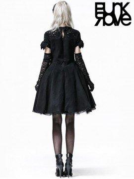 Lolita Short Sleeve Woolen Lace Dress