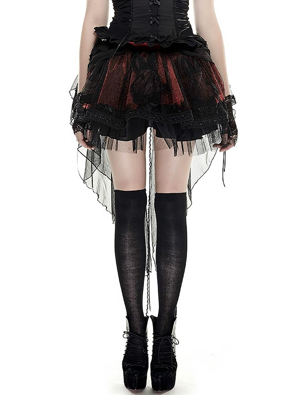Lolita Embroidered Bunny Mesh Two-Wear Skirt
