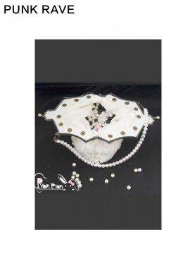 Lolita Beaded Clutch Purse - White