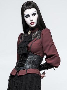 Gothic Lolita Black Under-Bust Corset