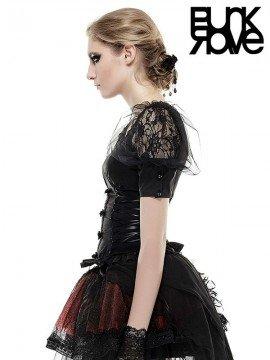 Lolita Puff Mesh & Lace Short Sleeve Top