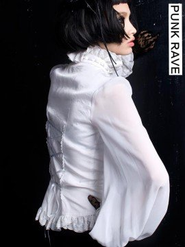 Gothic Lolita Chiffon Blouse - White