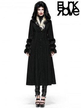 Gothic Lolita Two Wear Black Long Coat