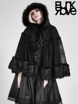 Gothic Lolita Woollen Shawl Cloak
