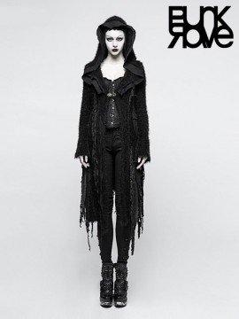 Gothic Distressed Sweater Hoodie Coat