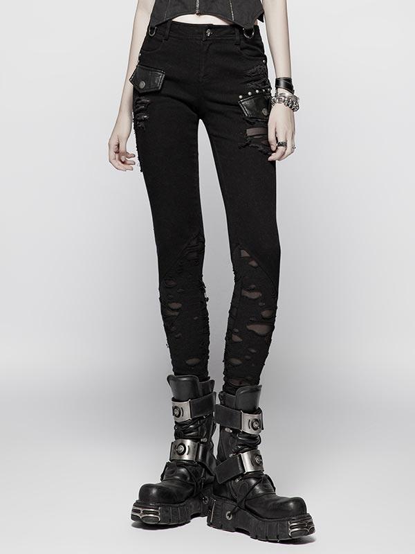 Punk Distressed Pants