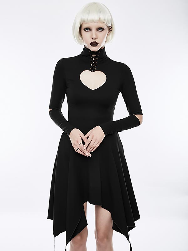 Gothic Victorian Heart-Shape Hollow-Out Dress