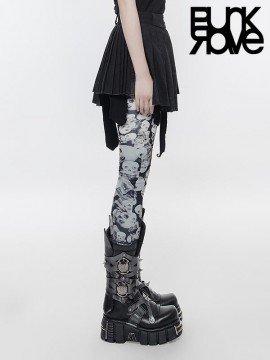Punk Mini Pleated Black Skirt