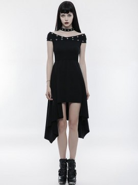 Punk X-Collar Strapless  Dress
