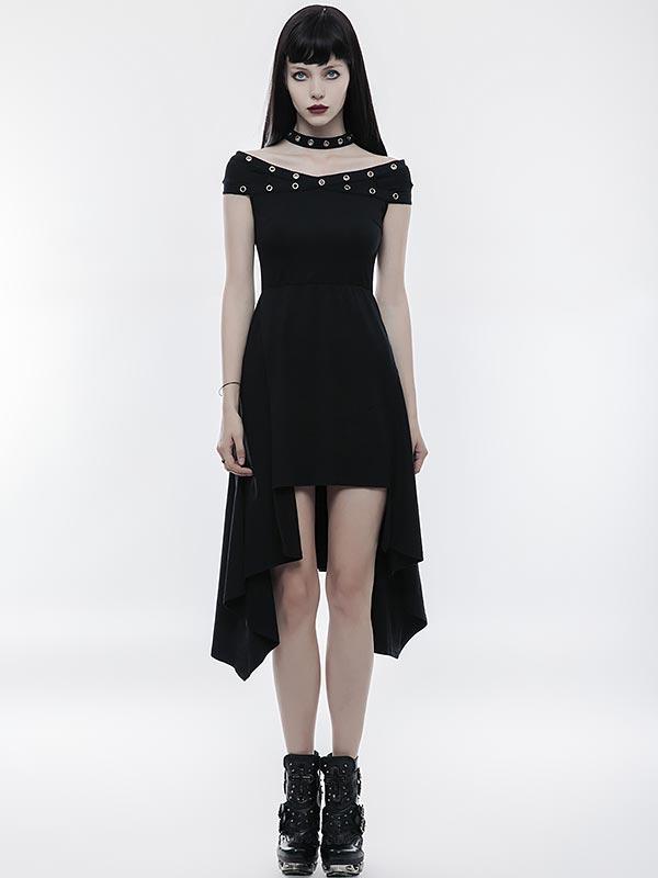 Punk X-Collar Strapless  Dress