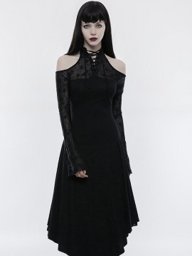 Gothic Off The Shoulder Dark Lace Dress