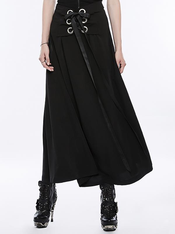 Punk Tie Wrap Long Skirt