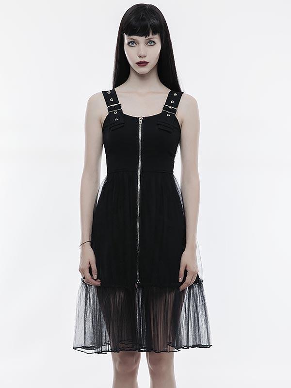 Punk Mosaic Pinafore Little Black Dress