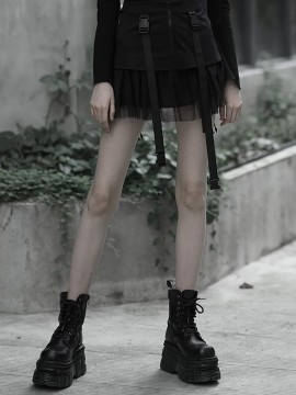 Daily Life Mesh Patchwork Skirt