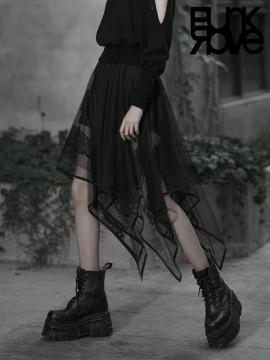 Daily Life Asymmetrical Chiffon Skirt