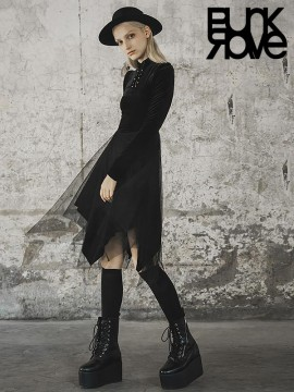 Daily Life - 'Bat Wing Fairy' Series - Chinese Style Collar Dress