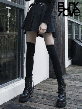 Daily Life 'Hardcore Girl' Series Box Pleat Skirt