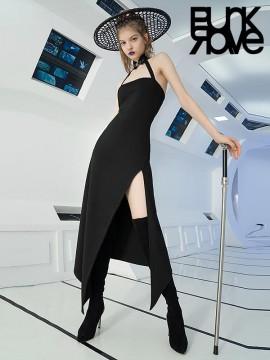 Daily Life - Cheongsam Influence Halterneck Dress