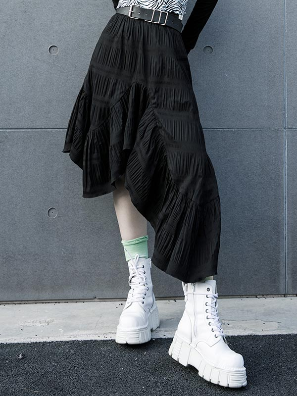 Daily Life Asymmetrical Long Skirt