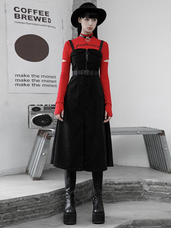 Daily Life Punk Sling Worker Dress